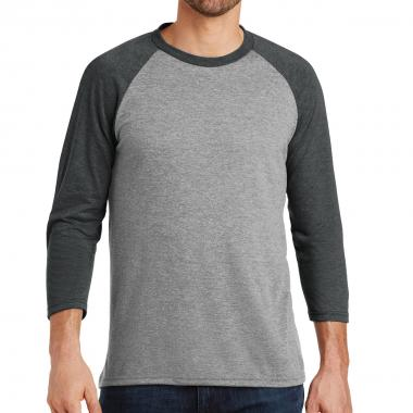 District Made® Men's Perfect Tri™ 3/4-Sleeve Raglan