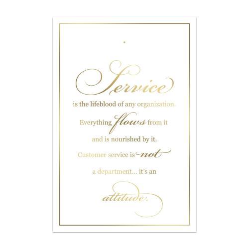 Service Backer Card