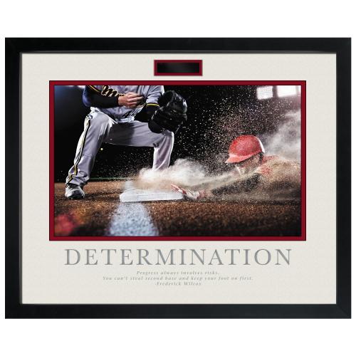 Determination Baseball Slide Motivational Poster