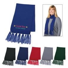 Fashion Accessories - Knit Scarf with Tassels