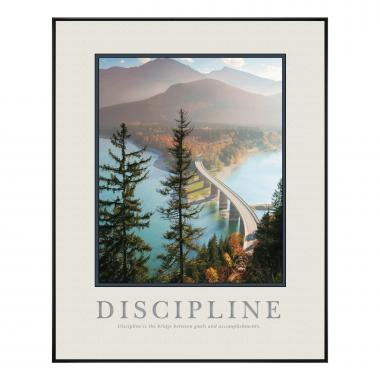 Discipline Bridge Motivational Poster