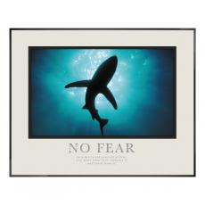 No Fear Shark Motivational Poster  (710046) - $139.99