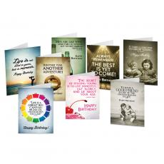 All Greeting Cards - Happy Birthday Note Card Sampler 48 Pack Set-1