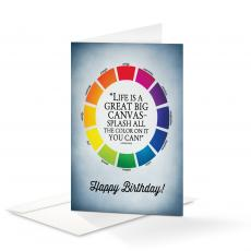Birthday Cards - Happy Birthday Life is a Canvas 25-Pack Note Cards