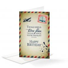 Business Occasion Cards - Happy Birthday Time Flies 25-Pack Note Cards