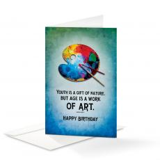 Business Occasion Cards - Happy Birthday Work of Art 25-Pack Note Cards