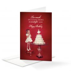 Closeout and Sale Center - Happy Birthday Cupcake 25-Pack Note Cards