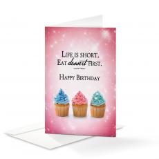 Business Occasion Cards - Happy Birthday Dessert 25-Pack Note Cards