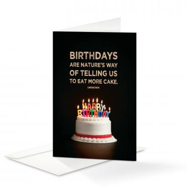 Happy Birthday Eat More Cake 25-Pack Note Cards