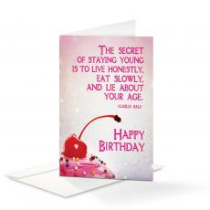 Birthday Cards - Happy Birthday Lie About Your Age 25-Pack Note Cards