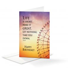 Birthday Cards - Happy Birthday Life Is Short 25-Pack Note Cards