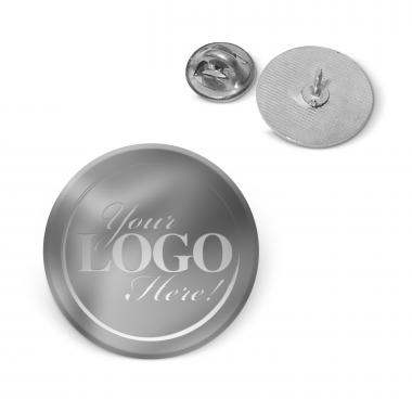 Silver Custom Logo Lapel Pin