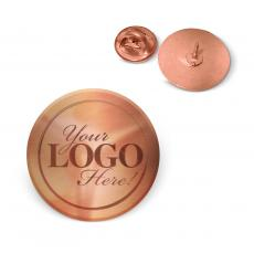 Lapel Pins - Copper Custom Logo Lapel Pin