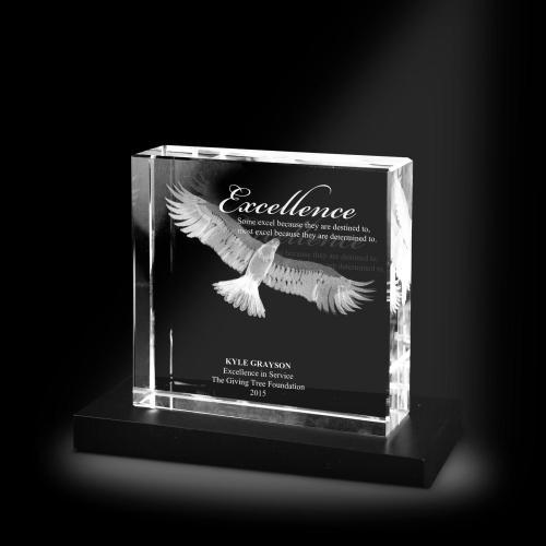 Excellence Eagle XL 3D Crystal Award
