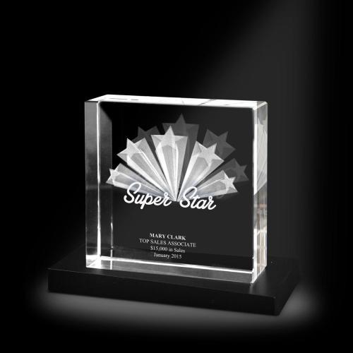Super Star XL 3D Crystal Award