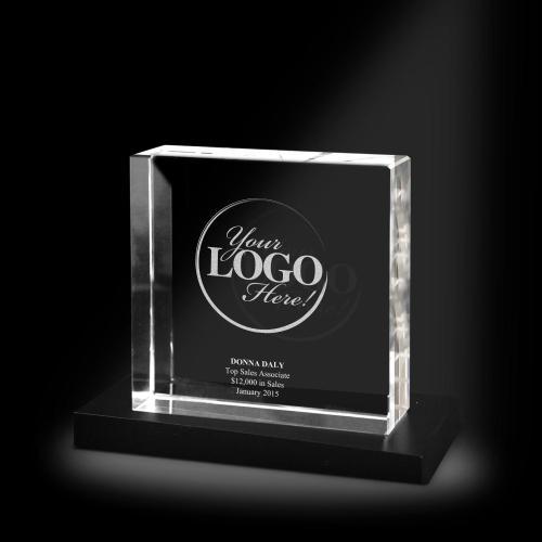 Custom XL 3D Crystal Award