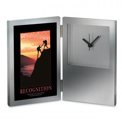 Recognition Climbers Desk Clock