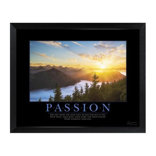 Passion Sunrise Mini Motivational Poster