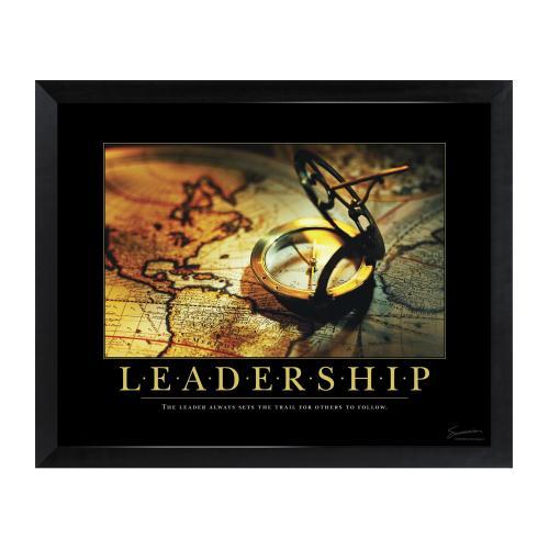 Leadership Compass Mini Motivational Poster