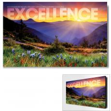 Modern - Excellence Sunrise Mountain Motivational Art