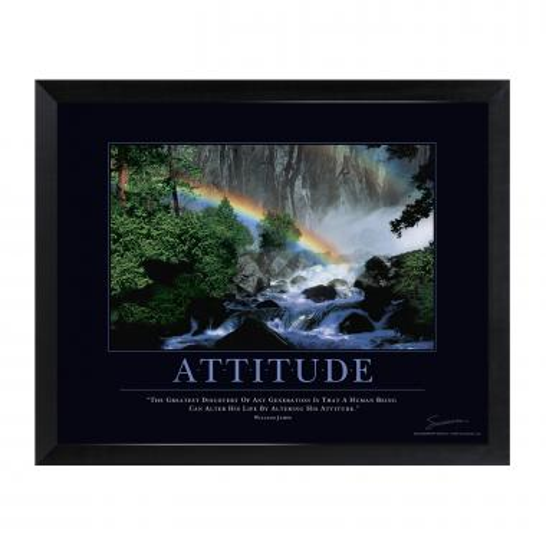 Attitude Rainbow Mini Motivational Poster