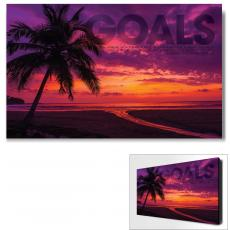 Modern Motivational Art - Goals Sunset Motivational Art