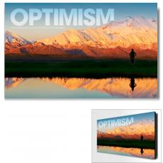 Modern Motivational Art - Optimism Mountain Motivational Art