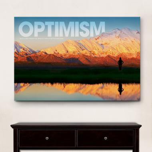 Optimism Mountain Motivational Art