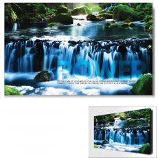 Modern Motivational Art - Power Waterfall Motivational Art