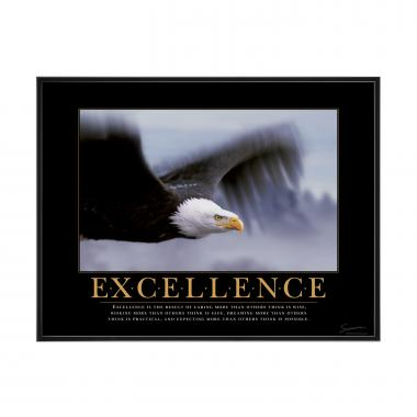 Excellence Eagle Mini Motivational Poster