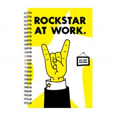 New Products - Rockstar At Work Spiral Notebook
