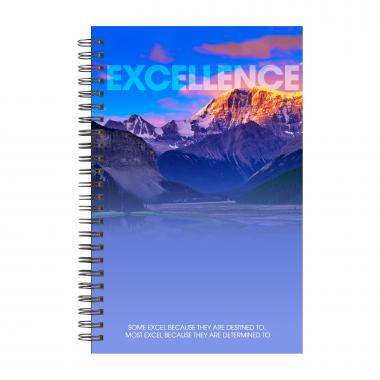 Excellence Mountain Spiral Notebook