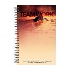 New Books - Teamwork Rowers Spiral Notebook
