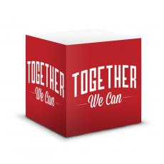 Note Cubes - Together We Can Motivational Notecube