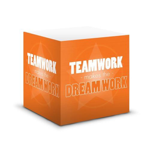 Dream Work Self-Stick Note Cube