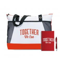 Closeout and Sale Center - Together We Can Motivational Tote Gift Set