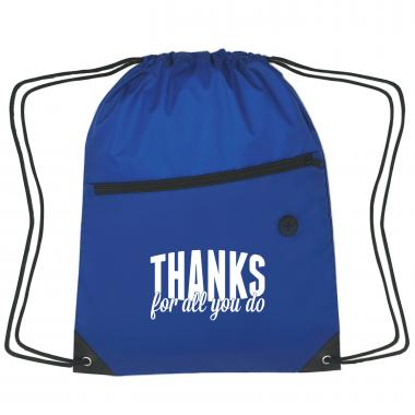 Thanks for All You Do Cinch Close Backpack
