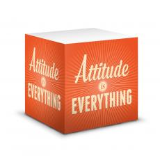 Closeout and Sale Center - Attitude is Everything Self-Stick Note Cube