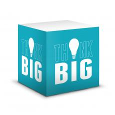 Business Essentials - Think Big Motivational Self-Stick Note Cube