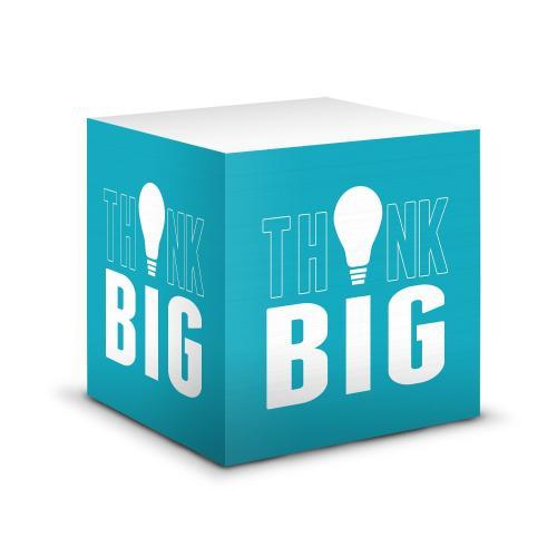 Think Big Motivational Self-Stick Note Cube