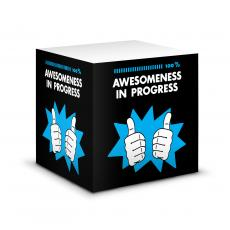 New Products - Awesomeness in Progress Motivational Notecube