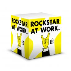 Note Cubes - Rockstar at Work Motivational Notecube