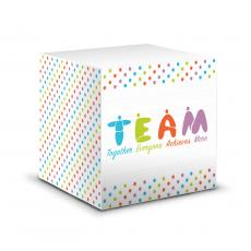 Note Cubes - Teamwork People Motivational Notecube