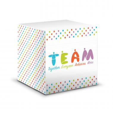 Teamwork People Self-Stick Note Cube