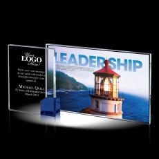 Colored Glass and Crystal Awards - Leadership Theme Crystal Award