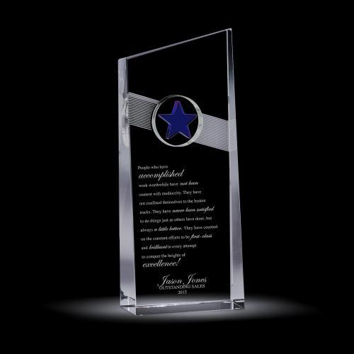 Blue Star Catcher Crystal Award