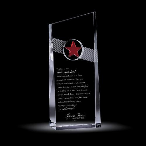 Red Star Catcher Crystal Award