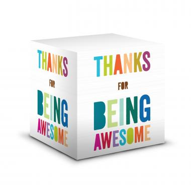 Thanks for Being Awesome Self-Stick Note Cube