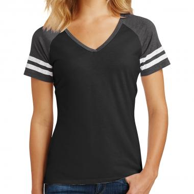District Made® Ladies' Game V-Neck Tee