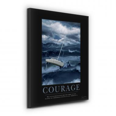 Courage Ship Motivational Poster
